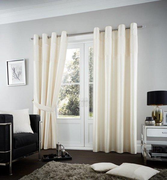 Fuel cream eyelet curtains