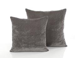 Oversized velvet pewter cushion cover