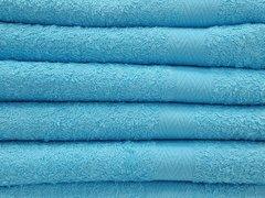Sky blue 100% cotton hand towels