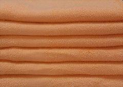Orange peach 100% cotton hand towels