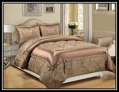 Caramel Betty 3 piece bedspread