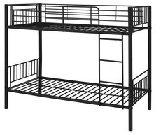 Montreal black single metal bunk beds