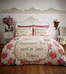 Relax cream flannelette duvet cover