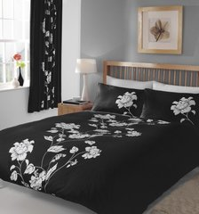 Chantilly black duvet cover
