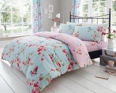 Birdie Blossom blue duvet cover