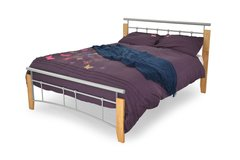 Ray silver metal bed frame