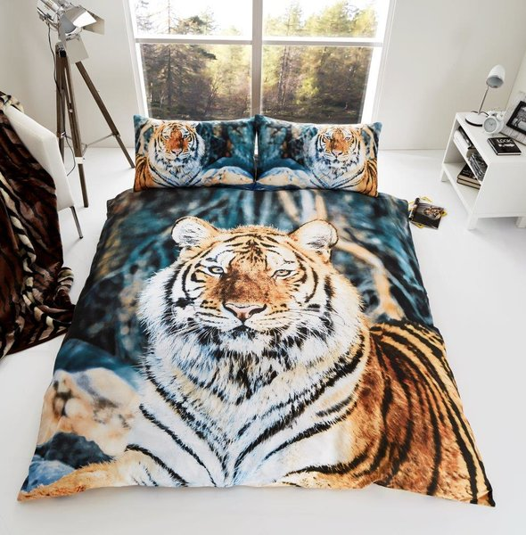 3D print Tiger duvet cover