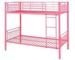 Montreal pink single metal bunk beds