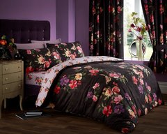 Rosehip black duvet cover