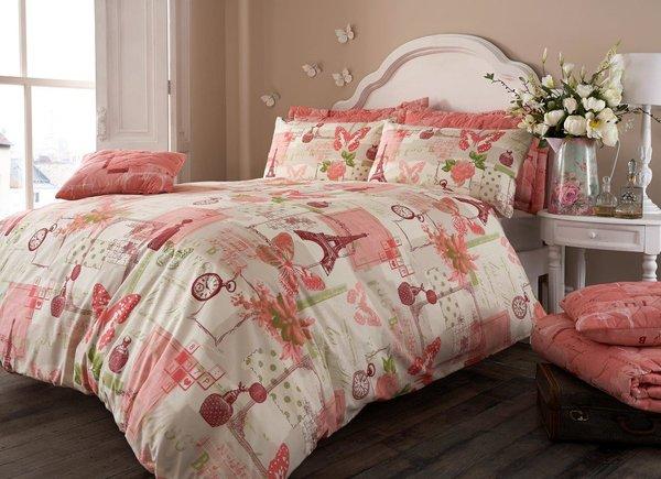Pistachio pink duvet cover