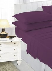 Plum fitted sheet