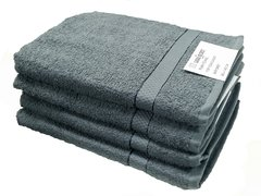 Grey 100% cotton bath sheet