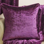 Velva crushed velvet plum cushion cover
