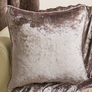 Velva crushed velvet bronze cushion cover