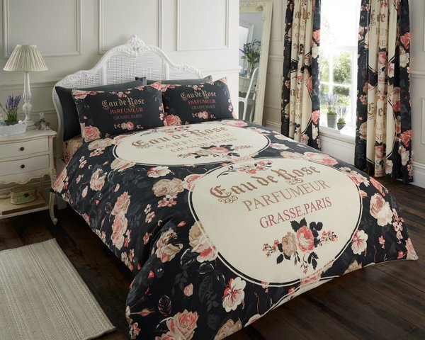 Iola black duvet cover