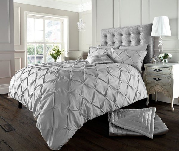 Alford silver grey duvet cover