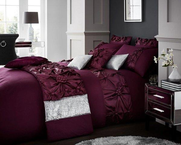 Vienna purple duvet cover