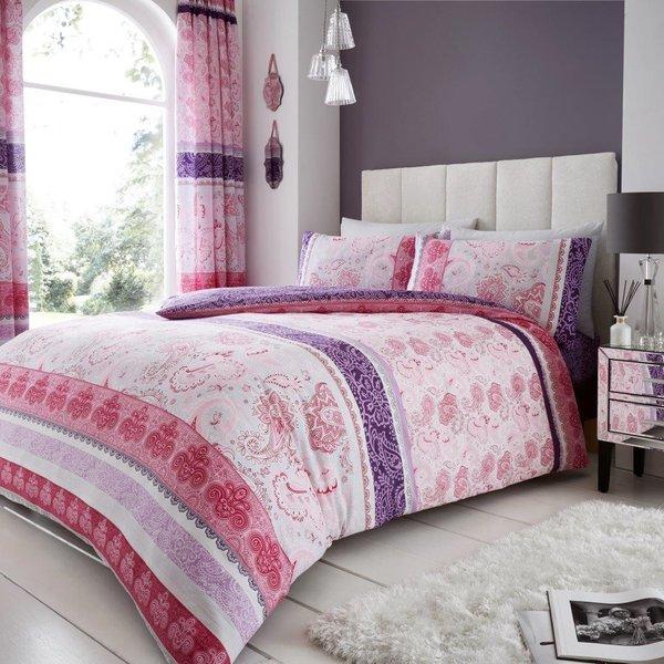 Kira pink duvet cover