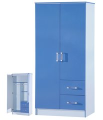 Marina blue gloss 2 door combi wardrobe