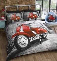 Scooter red duvet cover