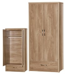 Holland oak effect 2 door wardrobe