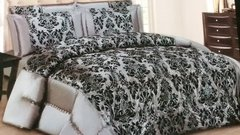 Grey Lisa 3 piece bedspread