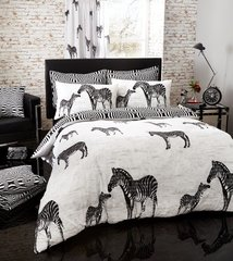 Tribal Zebra black duvet cover