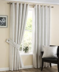 Silvana white eyelet curtains