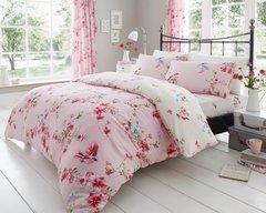 Birdie Blossom pink duvet cover