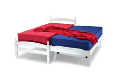Jersey white wooden single bed frame with guest bed