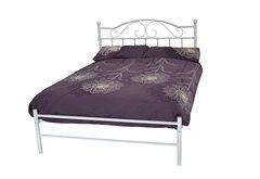 Susanna white metal bed frame