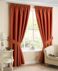 Brazil amber pencil pleat curtains