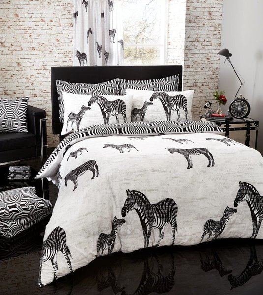 Tribal Zebra black duvet cover