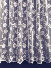 Hailey white net curtains