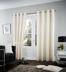 Fuel cream eyelet curtains
