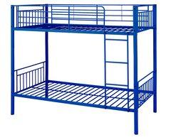 Montreal blue single metal bunk beds