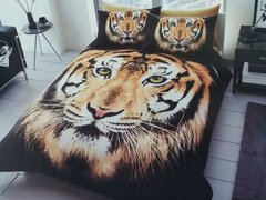 3D print brown Tiger Face duvet cover