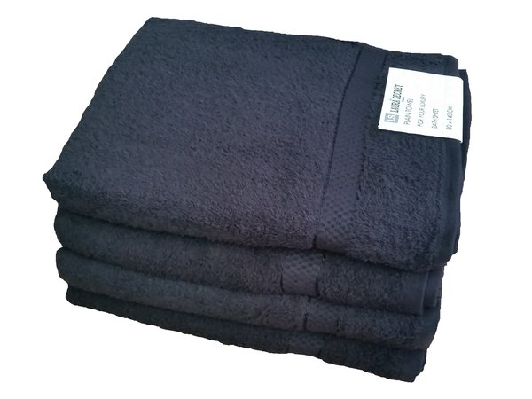 Black 100% cotton bath sheet