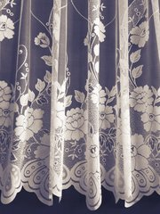 Lauren white net curtains