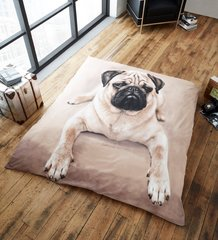 3D print Pug mink faux fur throw / blanket
