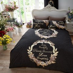 Live & Dream black duvet cover