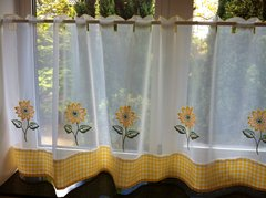 Sunflower ready made cafe curtain panel