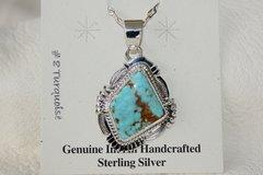 Number 8 Mine Turquoise Pendant - N85920