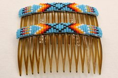 Set of 2 Beaded Haircombs - HC851 - SOLD