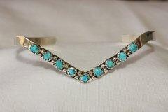 9 Stone Turquoise Sweater Bracelet - BR2493
