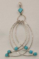 6 Loop Turquoise Pendant - P1361