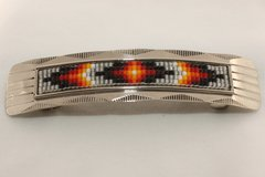 Nickel Silver Beaded Hair Barrette - HC1559