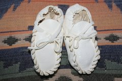 Handmade Ojibwa Leather Baby Mocs - BM100