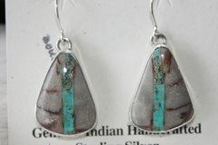 Boulder Turquoise Earrings - BL4200 - SOLD