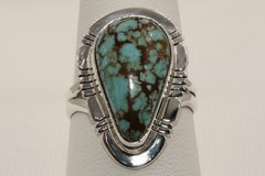 Number 8 Mine Turquoise Ring - N83562 - SOLD